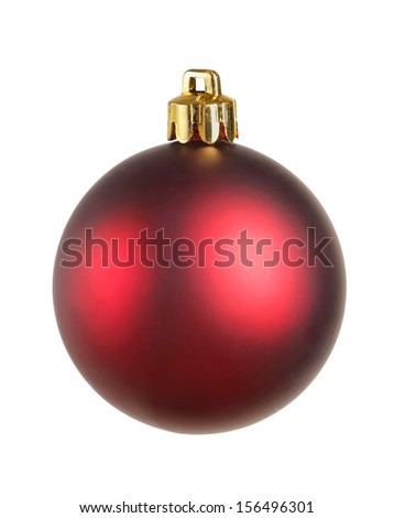 Bright christmas ball isolated on the white - stock photo