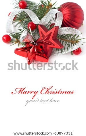 Bright christmas composition - stock photo