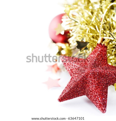 Bright christmas composition with copyspace - stock photo
