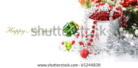 Bright christmas composition with sample text