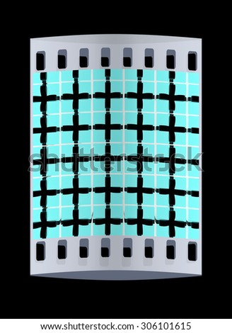 Bright christmas gifts background. The film strip - stock photo