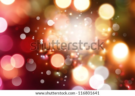 Bright circles of light abstract background - stock photo