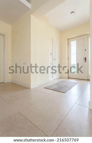 Bright clean spacious hallway in modern house - stock photo