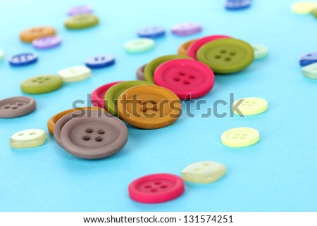 Bright color buttons on a blue background