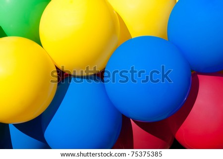 Bright colored balloons - stock photo