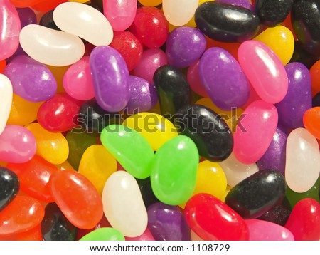 bright colored jelly beans for detail or design enhancement - stock photo