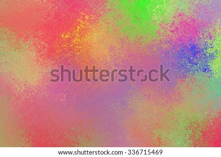 bright colorful background with splashes of paint colors in bold green red blue purple pink and yellow  - stock photo