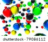 Bright colorful spheres - stock photo
