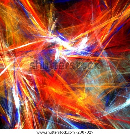 Bright colorful strokes - stock photo