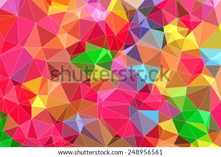 bright colors background low poly technique illustration - stock photo