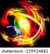 Bright Colors Graphic Illustration - stock photo
