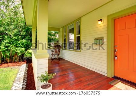 Bright colors porch  - stock photo