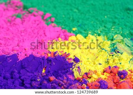 Bright colours for holi festival - stock photo
