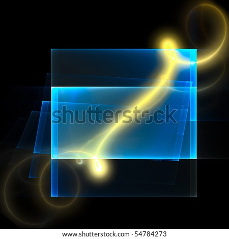 Bright curl on the translucent screen - stock photo