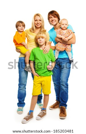 Bright cute family