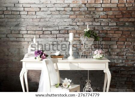 bright decor interior - stock photo