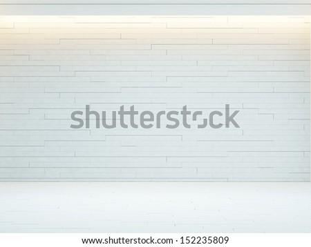bright decorative wall - stock photo