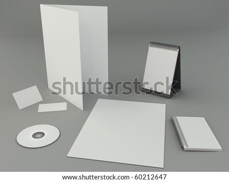 Bright design presentation template - stock photo