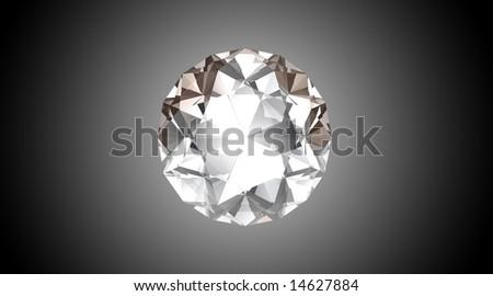 Bright Diamond - 3D Illustration - stock photo