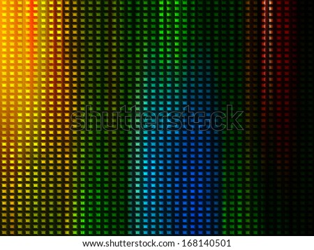 Bright digital background with squares