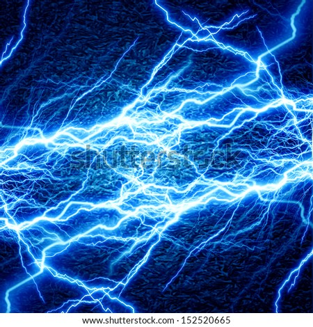 bright electrical spark on a dark blue background