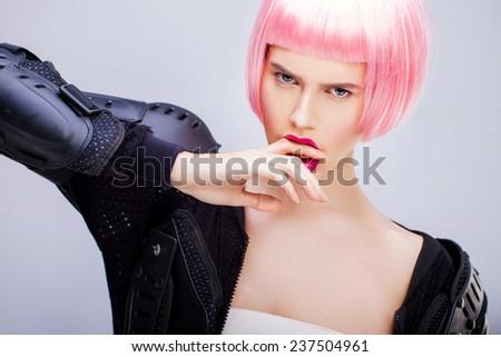 Bright fashion portrait - stock photo