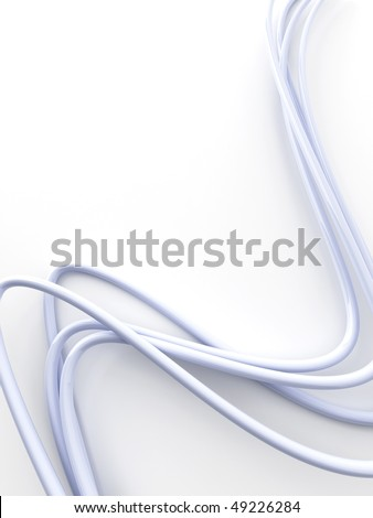 bright fibre-optical cables on a white background - stock photo