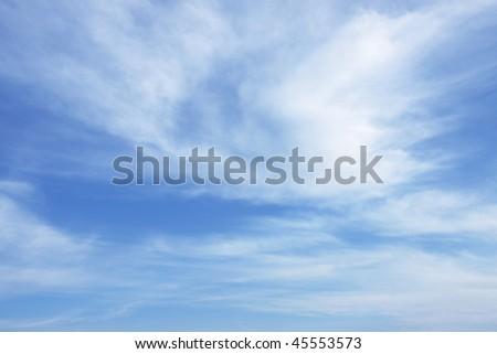 Bright figured sky - stock photo