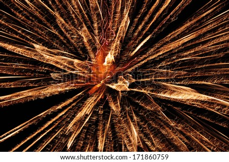 Red Explosion in Night Sky Explosion in The Night Sky