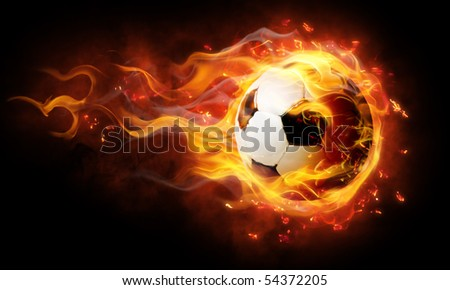 bright flamy symbol on the black background - stock photo