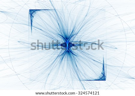 Bright flash of light with missing beams. Abstract image. Fractal Wallpaper on your desktop. Digital artwork for creative graphic design. Light background. - stock photo