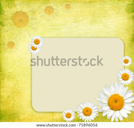 Bright Floral Greeting Card - stock photo