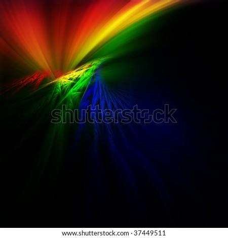 Bright fractal - stock photo