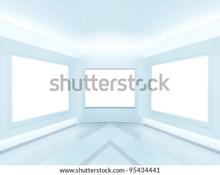 Bright gallery - stock photo