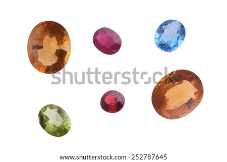 Bright gems  - stock photo