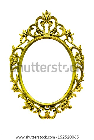 bright  gold  frame vintage classic style
