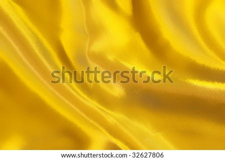 Bright golden satin texture (as a background) - stock photo