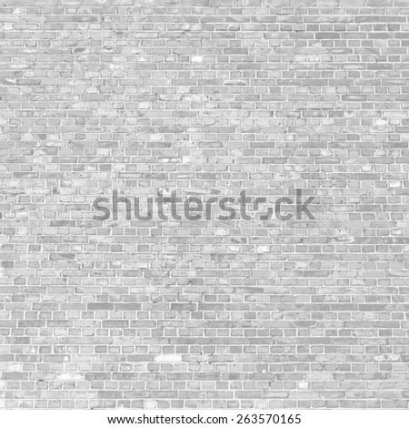 bright gray brick wall texture grunge background - stock photo