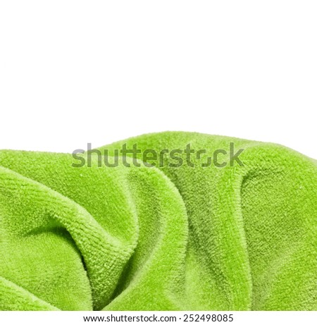 Bright green a fabric  fleece - stock photo
