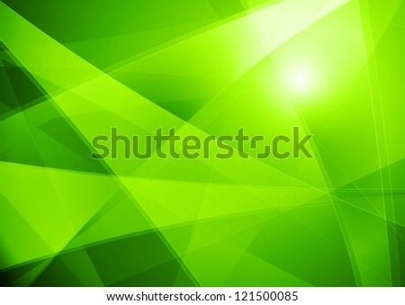 Bright green abstraction - stock photo