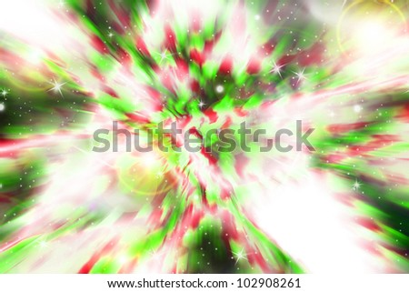 Bright green and red background