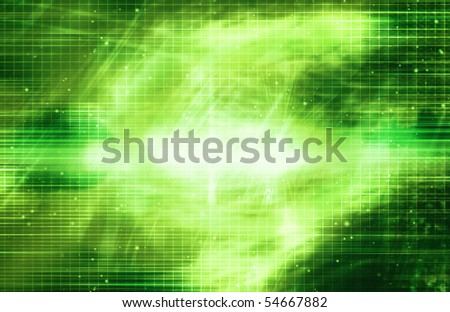 Bright Green Background - stock photo