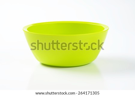 bright green bowl on white background