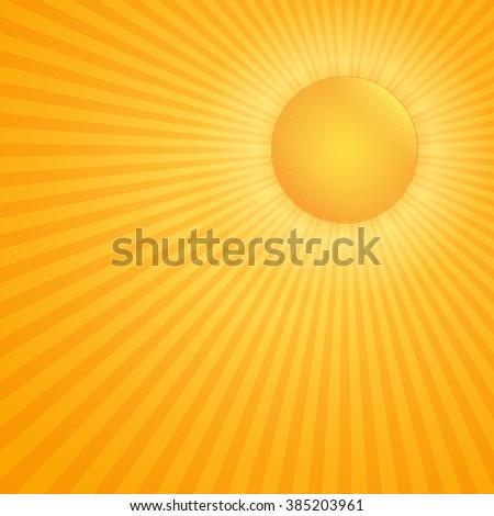 Bright hot sun - stock photo
