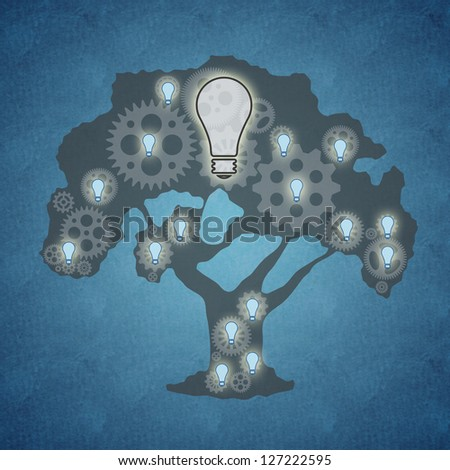 Bright idea and teamwork concept - stock photo