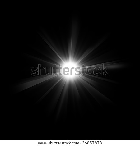 Bright illustrated star with rays