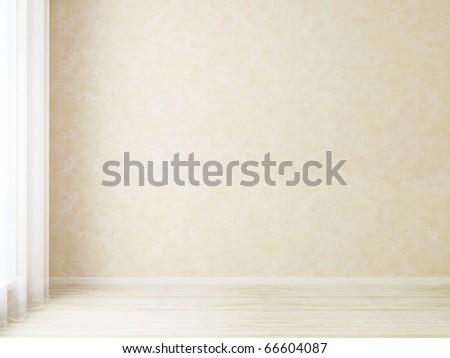 Bright interior empty room - stock photo