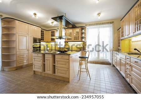 Bright kitchen - stock photo