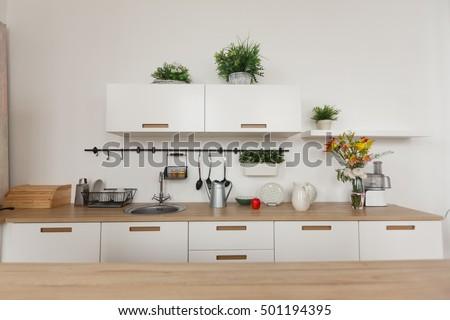 Bright Kitchen Background The Bright White Kitchen Wooden