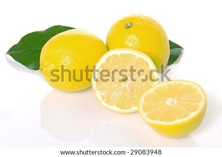 Bright lemon grouping with leaves